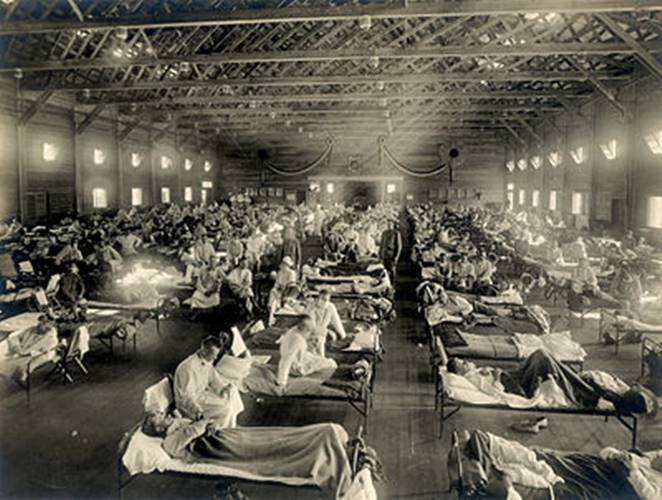 Spanish Flu Victims at a Hospital Ward