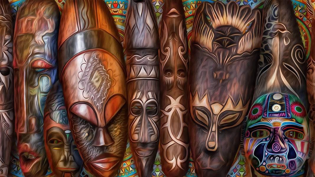 Masks_Painting_Art_African_masks_525450_1920x1080